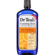 Dr. Teal's Foaming Bath, With Pure Epsom Salt, Glow Radiance