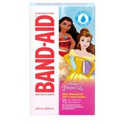 Band-Aid Brand Adhesive Bandages Featuring Disney Princesses, 100% Waterproof