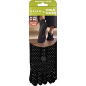 Gaiam Socks, Yoga, Medium/Large