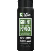 Duke Cannon Supply Co. Foot & Boot Powder, Grunt