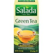 Salada Green Tea Rosemary Lemon Brain Boost Tea Bags