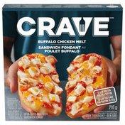 Crave Buffalo Chicken Melt Open Faced Sandwich
