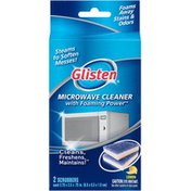 Glisten Lemon with Foaming Powder Microwave Cleaner Scrubbers