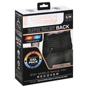 Copper Fit Back Support Wrap, Rapid Relief, Unisex, Small/Medium