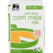 Food Lion Corn Meal Mix, Self-Rising, Yellow, Bag
