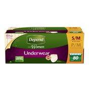 Depend Small/Medium Womans Incontinence Underwear