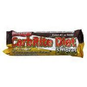 Carbrite Diet S'mores Chocolate, Marshmallow And Graham Cracker Flavored Bar