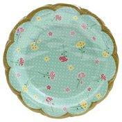 Paper Art Plates, Floral Tea Party