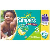 Pampers Baby Dry Super Pack Size 3 Diapers