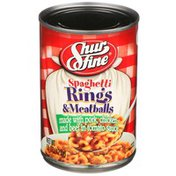 Shurfine Spaghetti Rings & Meatballs Made With Pork, Chicken & Beef In Tomato Sauce