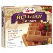 Van's Natural Foods Gourmet Waffles, Belgian, 7 Grain