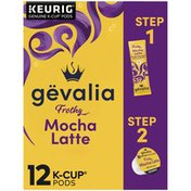 Gevalia 2-Step Mocha Latte Expresso K-Cup® Coffee Pods & Froth Packets Kit