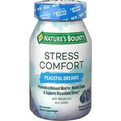Nature's Bounty Stress Comfort, Peaceful Dreams, Gummies, Blueberry Lavender Flavored