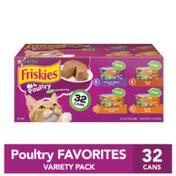 Friskies Pate Wet Cat Food Variety Pack, Poultry Favorites