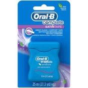 Oral-B Manual Complete SatinTape Dental Floss, Mint