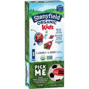 Stonyfield Organic Kids Cherry & Berry Lowfat Yogurt Variety Pack