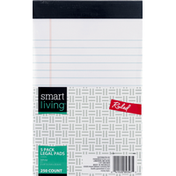 Smart Living Legal Pads, Ruled, White, 5 Pack