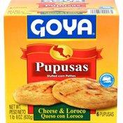 Goya Pupusas Cheese & Loroco Stuffed Corn Patties