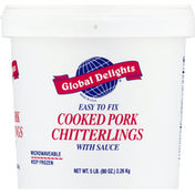 Global Delights Pork Chitterlings, with Sauce, Cooked