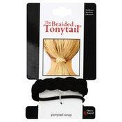 Tonytail Ponytail Wrap, Braided, Dark Brown