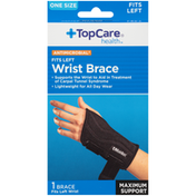 TopCare One Size Maximum Support Antimicrobial Fits Left Wrist Brace