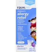 Equaline Allergy Relief, Children's, Non-drowsy, Grape