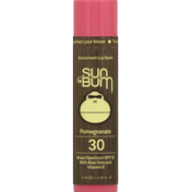 Sun Bum Lip Balm, Sunscreen, Pomegranate, Broad Spectrum SPF 30