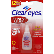 Clear Eyes Eye Drops, Redness Relief, Handy Pocket Pal