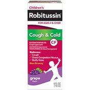 Children's Robitussin Children's CF Grape Liquid Cough Suppressant/Expectorant/Nasal Decongestant