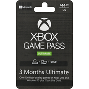 Xbox Game Pass Game Pass, 3 Months Ultimate, $44.99