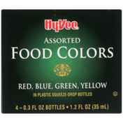 Hy-Vee Assorted Food Colors Red, Blue, Green, Yellow