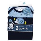 Gerber Gowns, Lap Shoulder, 0-6 M