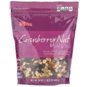 Hy-Vee Cranberry Nut Peanuts, Raisins, Dried Cranberries, Golden Raisins, Almonds & Walnuts Trail Mix