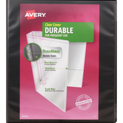 Avery Binder, Clear Cover, Durable, 1 Inch