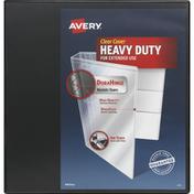 Avery Binder, Heavy Duty, Clear Cover, 1-1/2 Inch