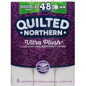 Quilted Northern Bathroom Tissue, Unscented, 3-Ply