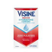Visine Red Eye Hydrating Comfort Lubricant & Redness Reliever Eye Drops