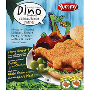 Yummy Chicken Breast Patties, Dinosaur-Shaped