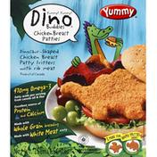 Yummy Chicken Breast Patties, Dinosaur-Shaped