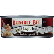 Bumble Bee Tuna in Vegetable Oil, Yellowfin, Solid Light
