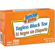 Special Value Black Tagless Tea Bags