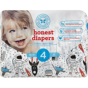 The Honest Company Diapers, 4 (22-37 Pounds), Space Travel