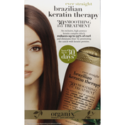 OGX Smoothing Treatment, 30 Day, Ever Straight, Brazilian Keratin Therapy