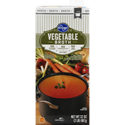 Kroger Vegetable Broth, Fat Free