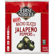 First Street Jalapeno Peppers, Hot, Nacho Sliced
