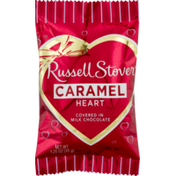 Russell Stover Caramel Heart in Milk Chocolate