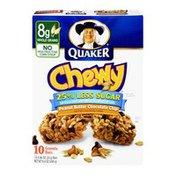 Quaker 25% Less Sugar Peanut Butter Chocolate Chip Granola Bars