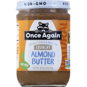 Once Again Almond Butter, Crunchy, Unsweetened & Roasted, Natural