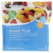 Food Club Unsweetened Mixed Fruit With Sliced Peaches, Whole Strawberries, Red Seedless Grapes, Dark Sweet Cherries & Pineapple Chunks