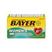 Bayer Aspirin Regimen Pain Reliever Women's Low Dose Coated Caplets - 81mg